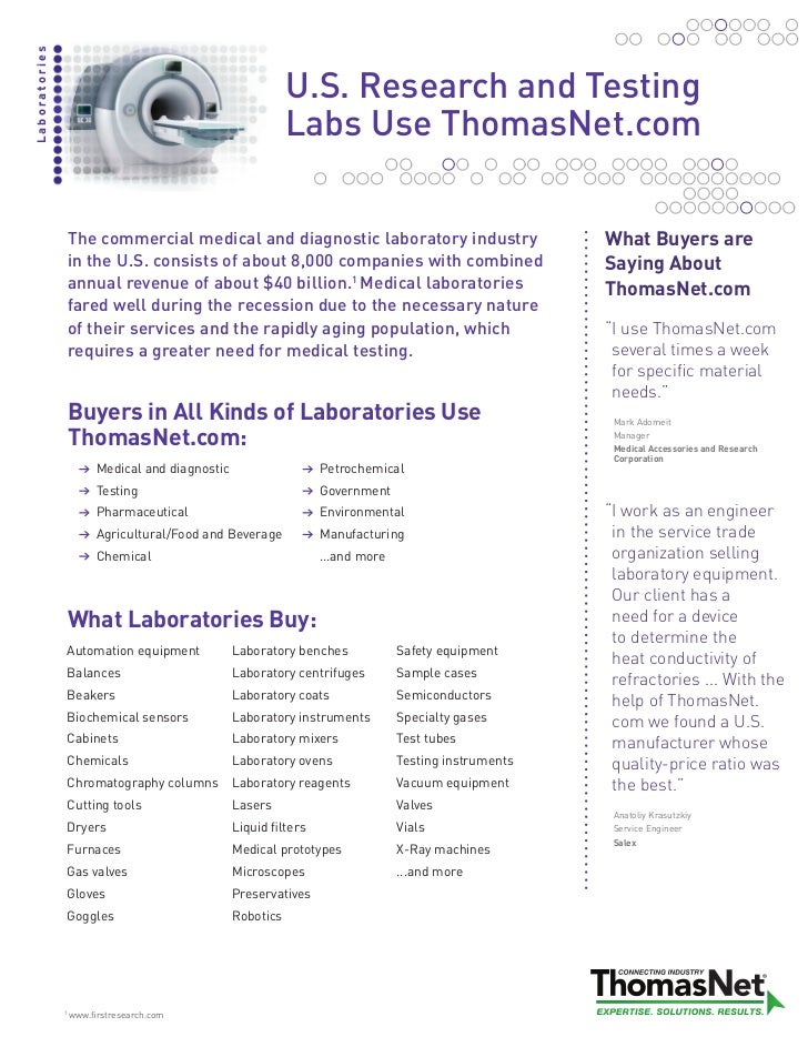 Laboratories                                                            U.S. Research and Testing                         ...