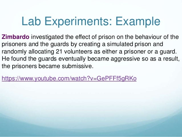 Lab experiment example