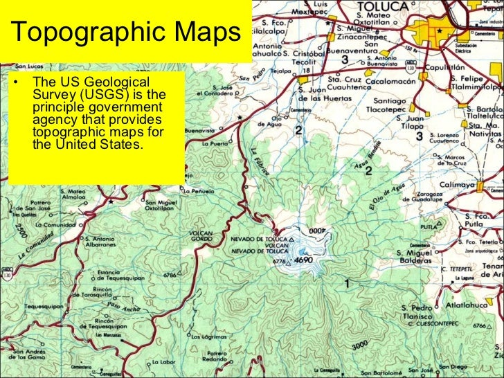 Topographic map of us states