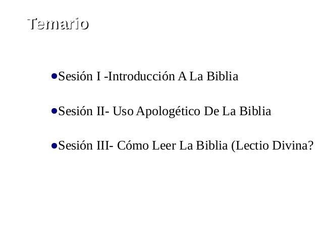 Taller De La Biblia - Sesión I Slide 2