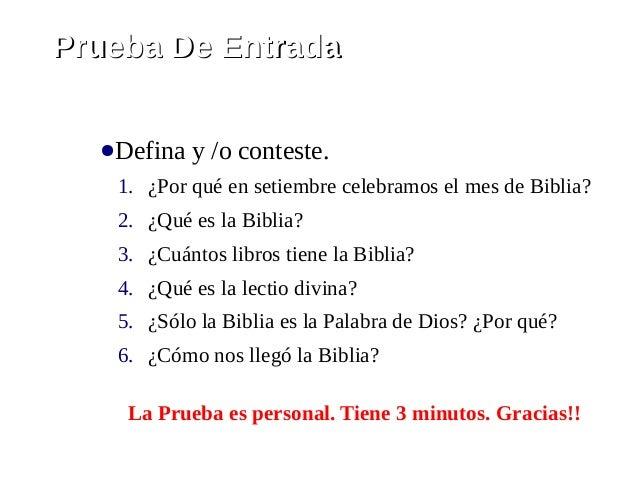 Taller De La Biblia - Sesión I Slide 3