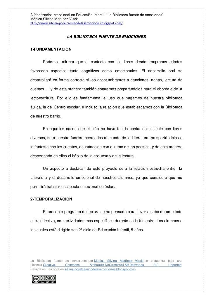 """Alfabetización emocional en Educación Infantil- """"La Biblioteca fuente de emociones""""Mónica Silvina Martinez Visciohttp://ww..."""