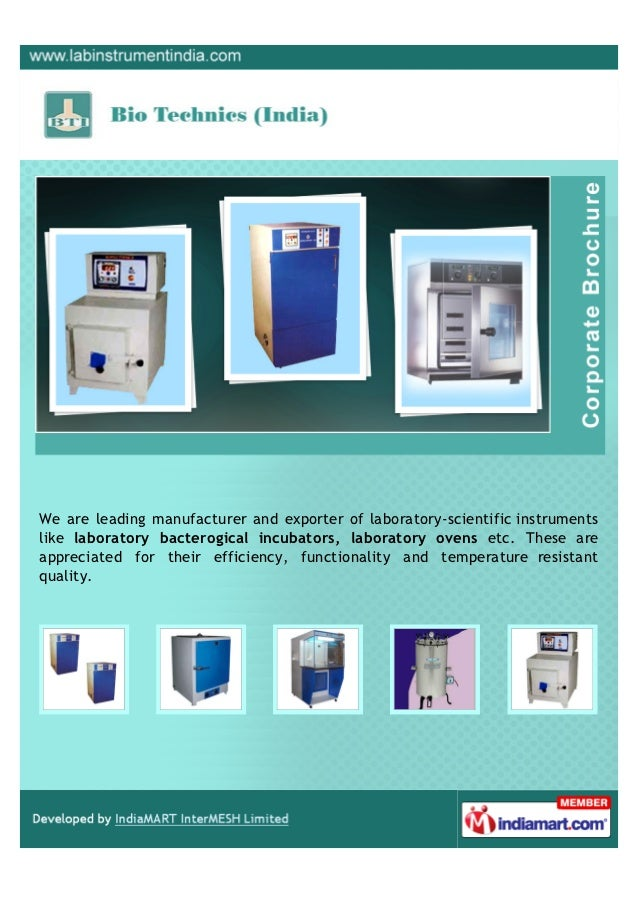 We are leading manufacturer and exporter of laboratory-scientific instrumentslike laboratory bacterogical incubators, labo...