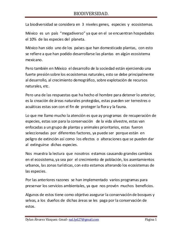 """BIODIVERSIDAD.La biodiversidad se considera en 3 niveles genes, especies y ecosistemas.México es un país """"megadiverso"""" ya ..."""