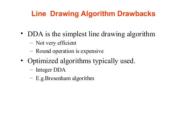 Bresenham Line Drawing Algorithm Visual Basic : Lab lecture line algo