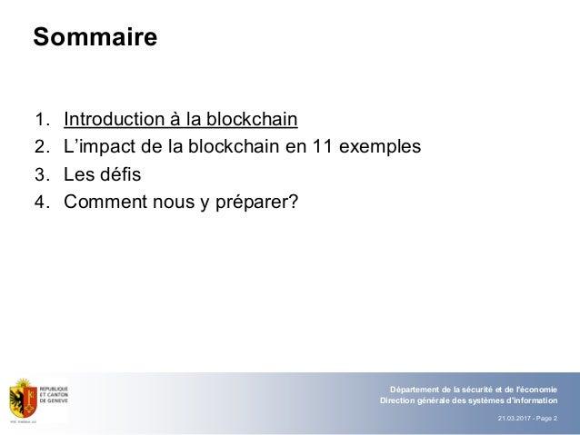 La blockchain et son impact sur le secteur public Slide 2