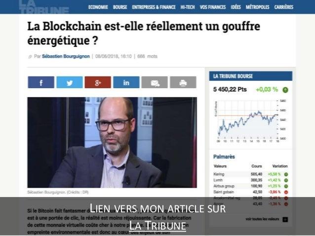 La blockchain est elle réellement un gouffre énergétique ? Slide 3