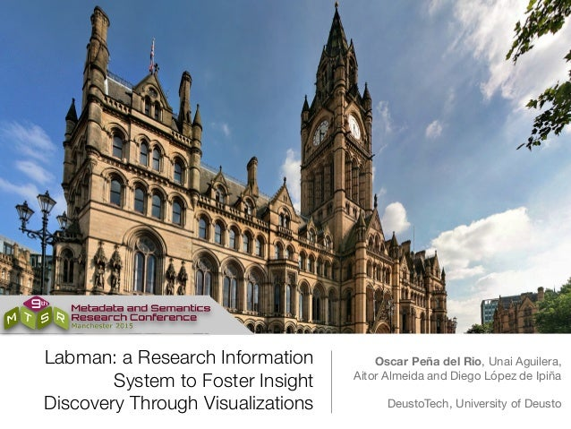 Labman: a Research Information System to Foster Insight Discovery Through Visualizations Oscar Peña del Rio, Unai Aguilera...