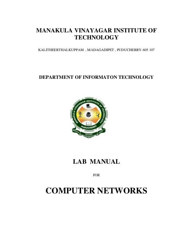 MANAKULA VINAYAGAR INSTITUTE OF TECHNOLOGY KALITHEERTHALKUPPAM , MADAGADIPET , PUDUCHERRY-605 107 DEPARTMENT OF INFORMATON...