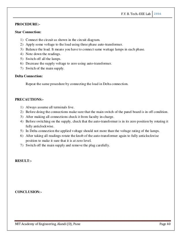 Lab manual for Basic electrical and electronics engineering for first…