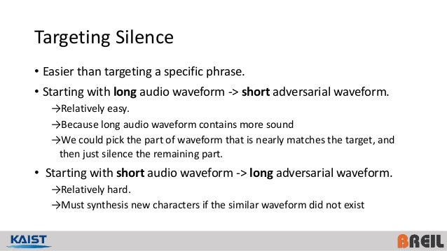 Paper Review] Audio adversarial examples
