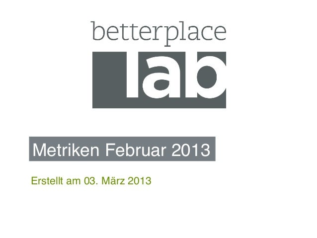 Metriken Februar 2013!Erstellt am 03. März 2013!