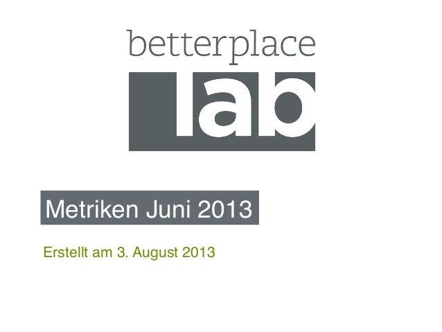 Metriken Juni 2013! Erstellt am 3. August 2013!