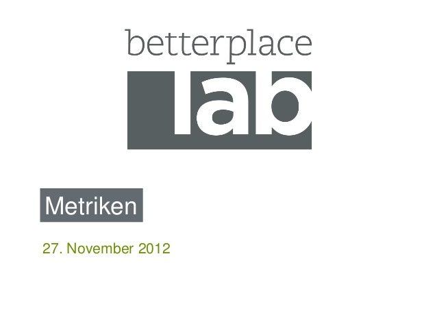 Metriken27. November 2012