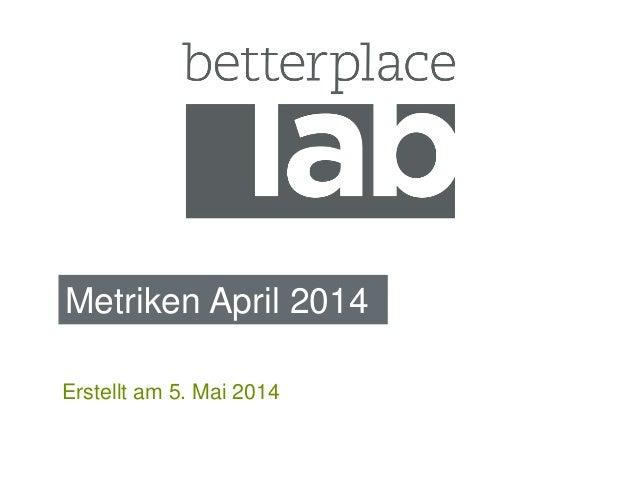 Metriken April 2014 Erstellt am 5. Mai 2014