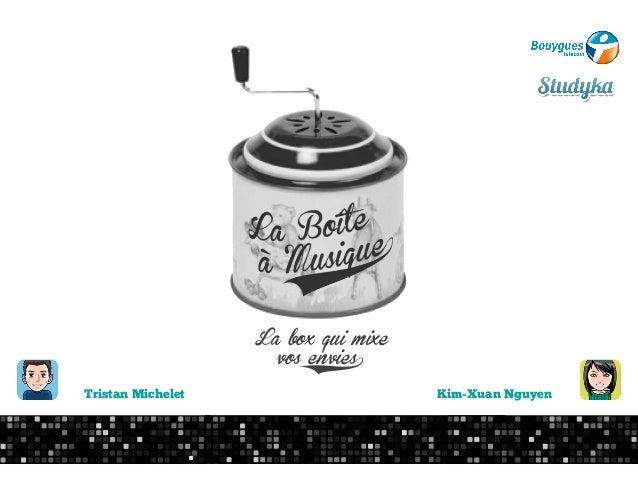 La box qui mixe                      vos envies6Tristan Michelet                      Kim-Xuan Nguyen