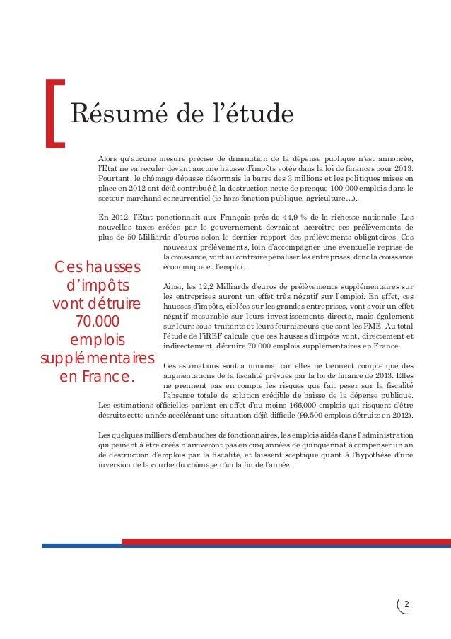 """La """"boîte à outils"""" de François Hollande détruit l'emploi Slide 2"""