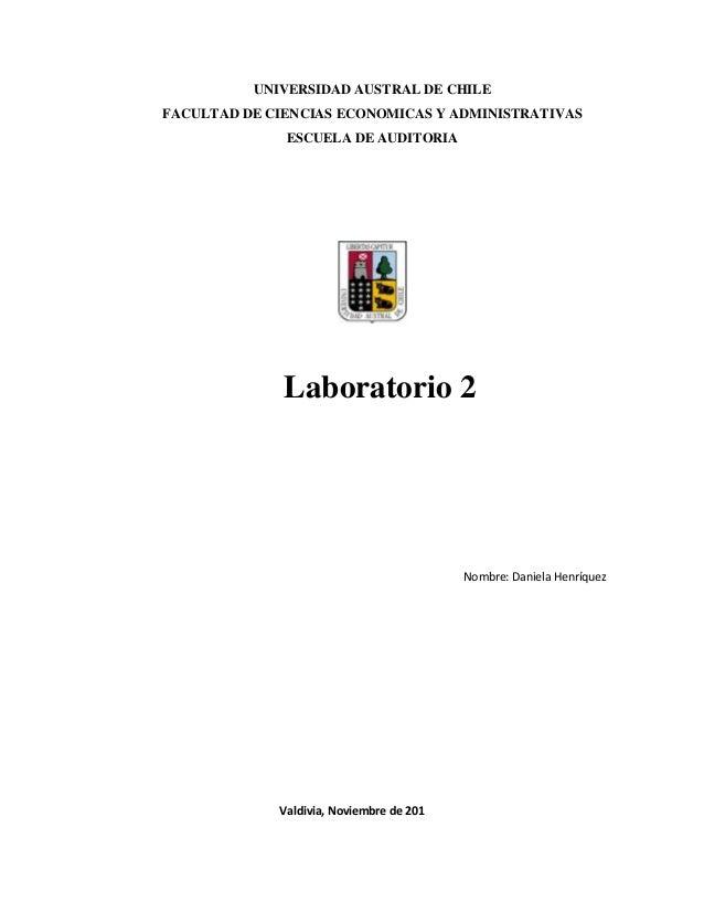 UNIVERSIDAD AUSTRAL DE CHILEFACULTAD DE CIENCIAS ECONOMICAS Y ADMINISTRATIVAS              ESCUELA DE AUDITORIA           ...
