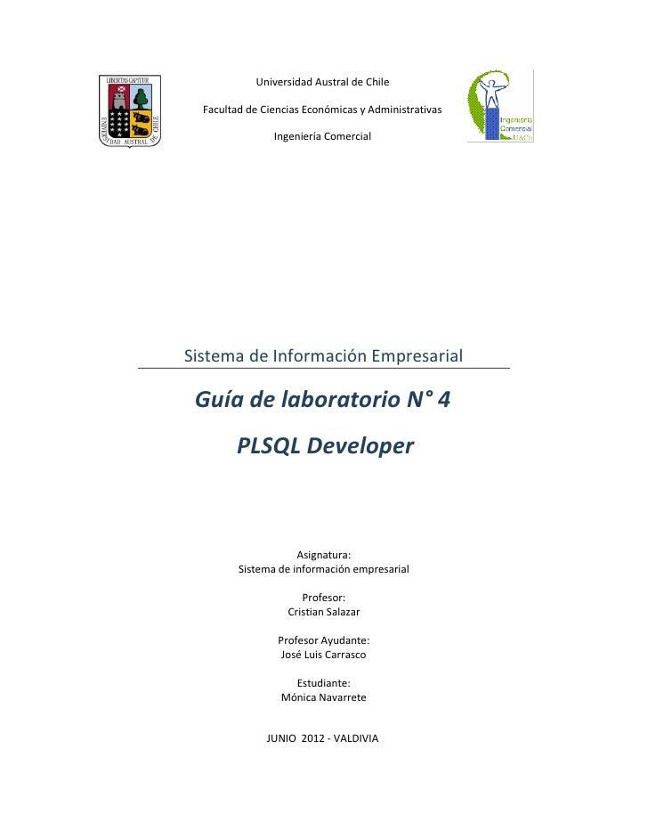 Universidad Austral de Chile  Facultad de Ciencias Económicas y Administrativas                Ingeniería ComercialSistema...