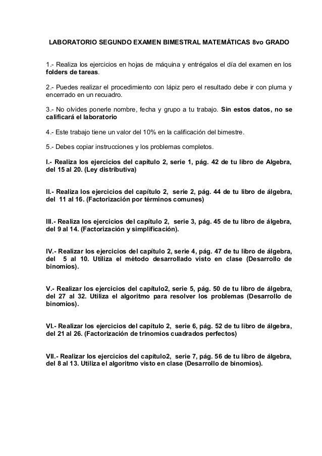 Laboratorio 3 examen bimestral 8vo