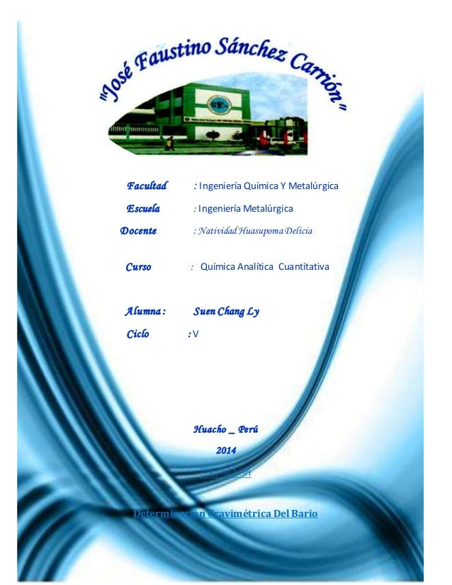 """Universidad Nacional """"José Faustino Sánchez Carrión"""" Facultad de Ingeniería Química y Metalurgia – E.A.P. Ingeniería Metal..."""