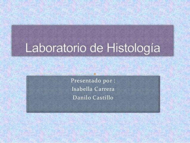 Presentado por : Isabella Carrera Danilo Castillo