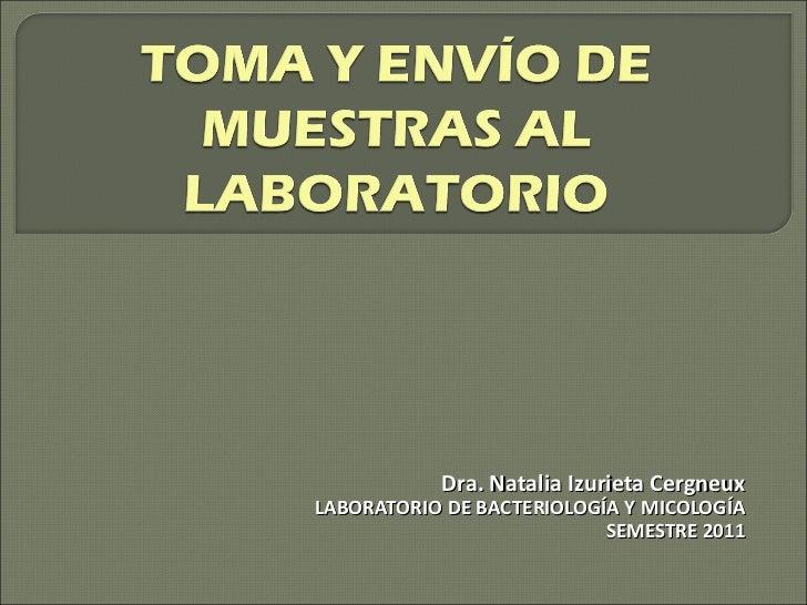 Dra. Natalia Izurieta Cergneux LABORATORIO DE BACTERIOLOGÍA Y MICOLOGÍA SEMESTRE 2011