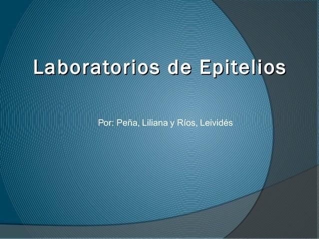 Laboratorios de EpiteliosLaboratorios de Epitelios Por: Peña, Liliana y Ríos, Leividés