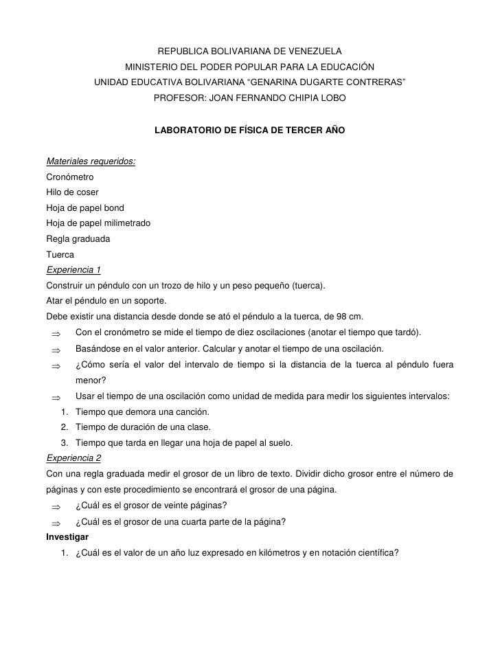 """REPUBLICA BOLIVARIANA DE VENEZUELA<br />MINISTERIO DEL PODER POPULAR PARA LA EDUCACIÓN<br />UNIDAD EDUCATIVA BOLIVARIANA """"..."""