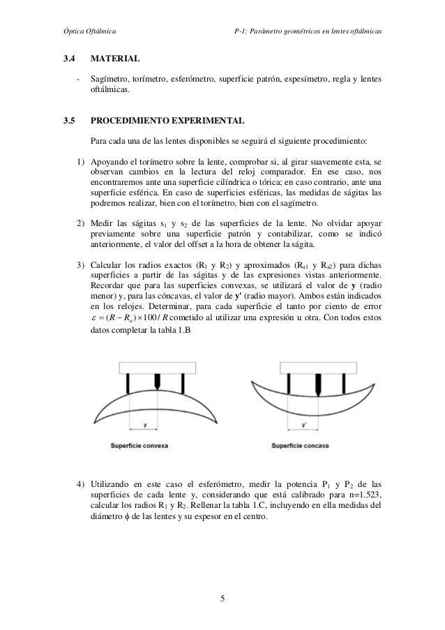 c982c84b01 ... potencia de la superficie anterior de una lente oftálmica con el  esferómetro Espesímetro; 7.
