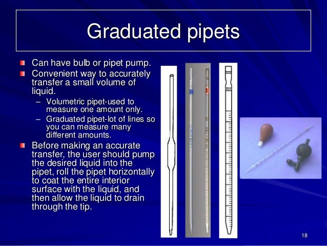 Graduated PipetsCan Have Bulb Or Pipet