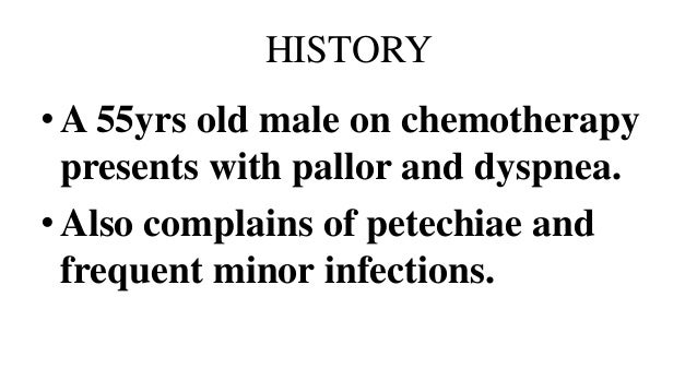 Laboratory investigations in pancytopenia