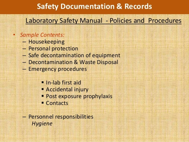 lab safety report sample