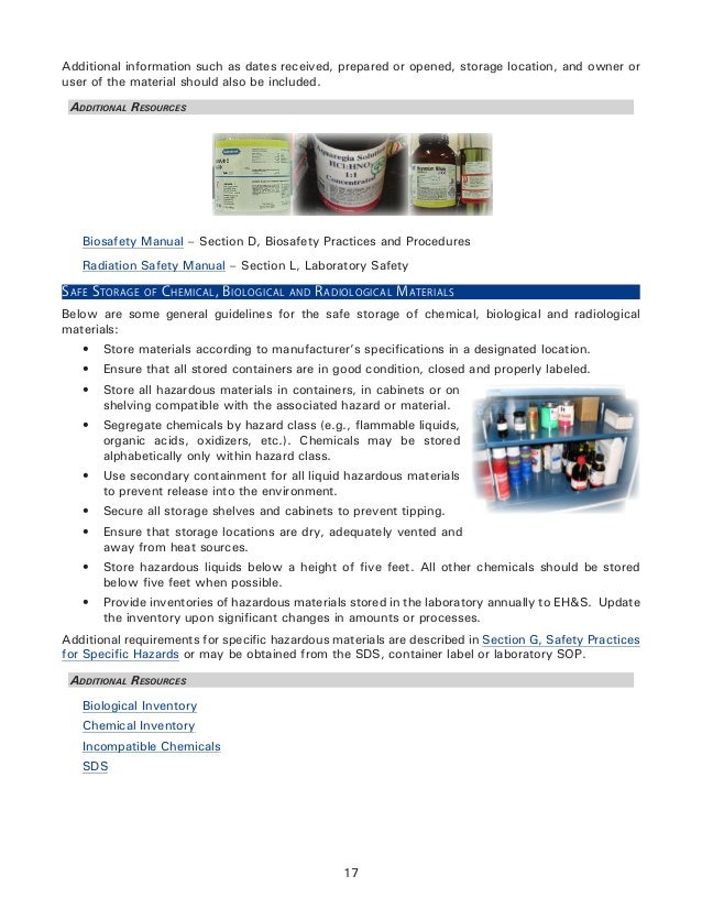 Laboratory Safety and Chemical Hygiene Plan