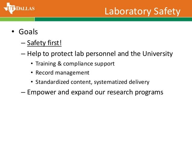 Laboratory Safety Training by UT Dallas