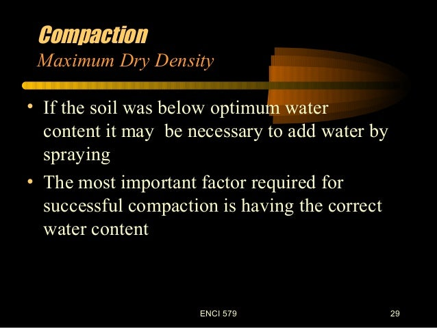 Laboratory soil compaction test for Soil content