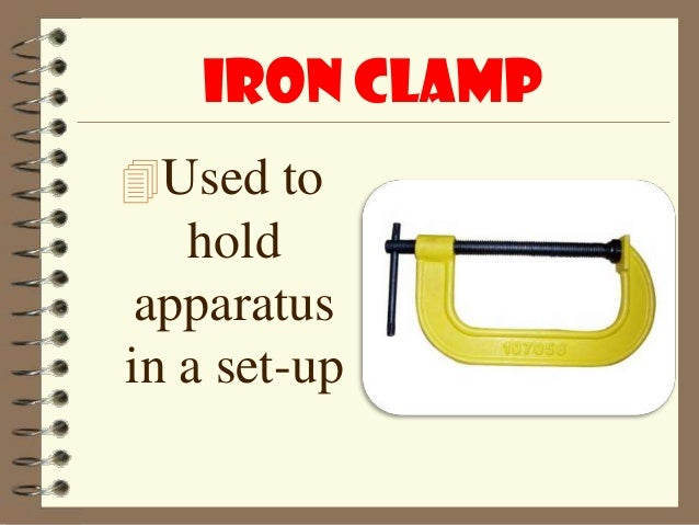 Iron ClampUsed To Hold Apparatusin A Set Up 27