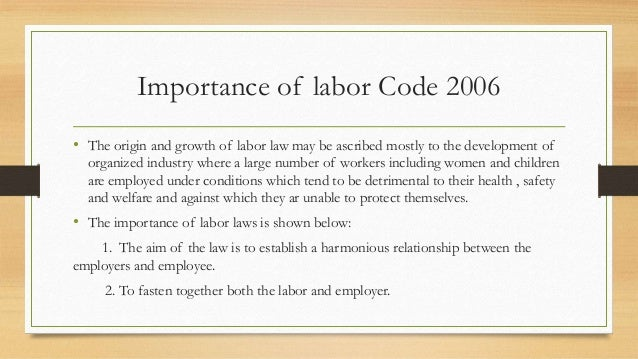 labor code philippines employer employee relationship
