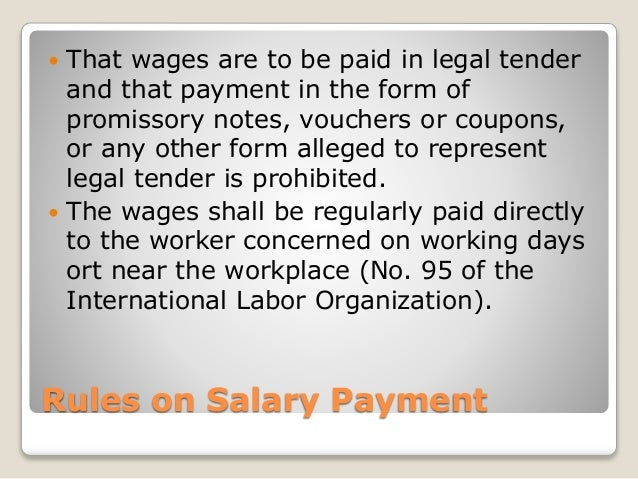labor code of the philippines Department of labor and employment (dole) in appropriate regulations   notice or salary in lieu of notice, is not allowed under philippine labor law.