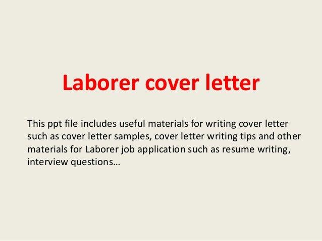 Resume Builders Labourer Job Opportunities Windsor Labor Cover Letter ...