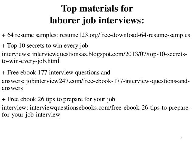 Laborer Resume Sample Pdf Ebook Free Download