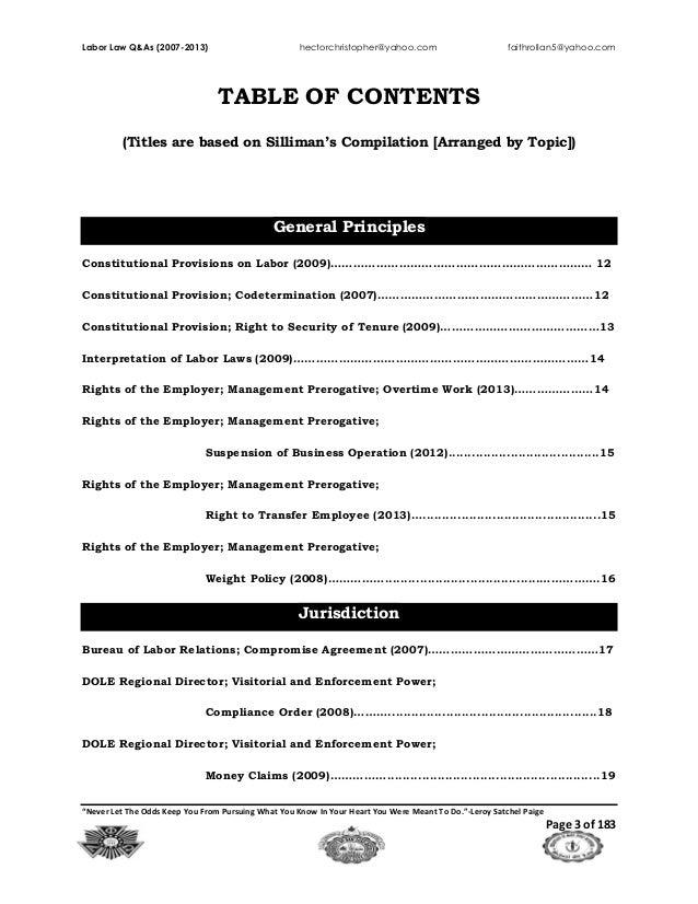Labor Law (2007 2013)