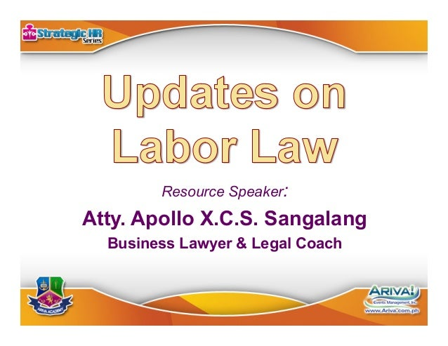 Resource Speaker:  Atty. Apollo X.C.S. Sangalang Business Lawyer & Legal Coach