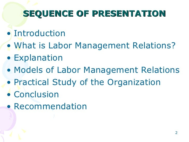 globalization and labor management relations The global employer: the labor relations and collective agreements issue patrick j o'brien labor relations report - brand attack: and expand union power and influence on corporate management.