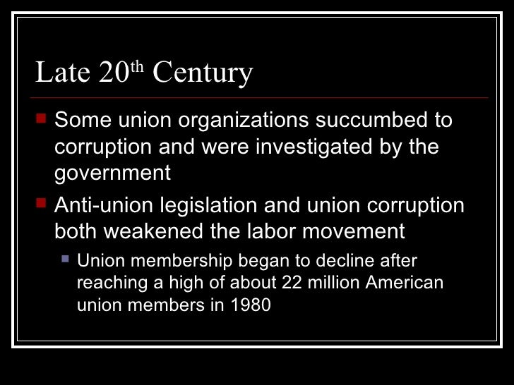 U S  Labor Movement