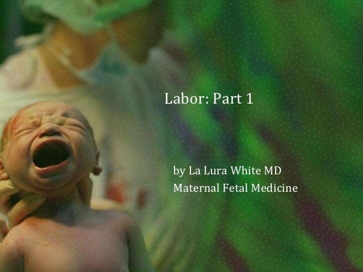 Labor: Part 1<br />by La Lura White MD<br />Maternal Fetal Medicine<br />