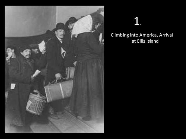 1  .  Climbing into America, Arrival at Ellis Island