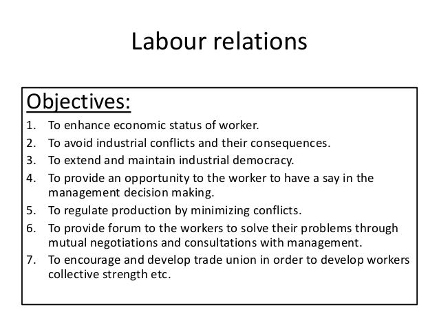 labor relations and negotiations