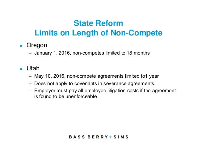 Employment and benefits law update 30 state reform limits on length of non compete oregon platinumwayz
