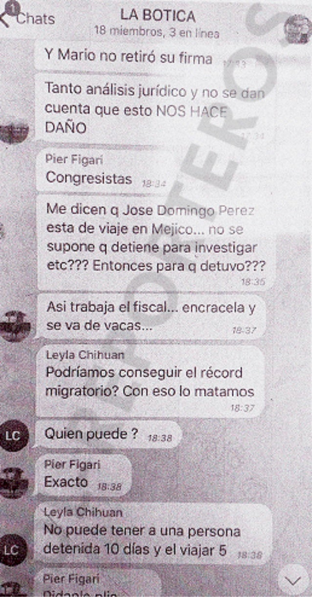 """Chats de """"La botica"""" / Imagen: IDL - Reporteros"""